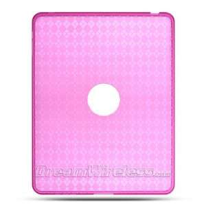 Hot Pink Checker Soft Crystal Skin Gel Cover Case for