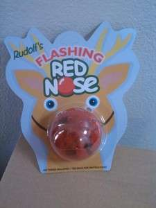 Christmas Rudolph Red Nose Reindeer NOSE   LIGHTS UP