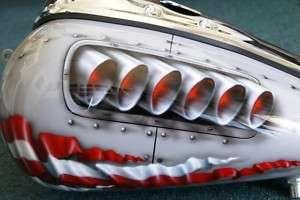 Custom Paint Job On Your Tins P 40/ Rivets Gas Tank