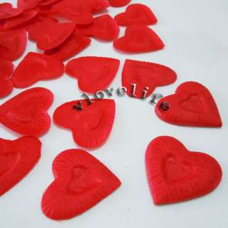 1000PCS Red Heart Design Silk Rose Petals Wedding Decor