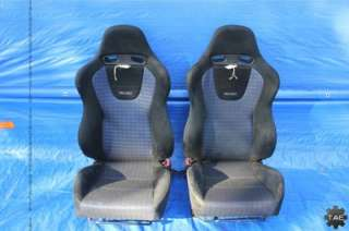 MITSUBISHI LANCER EVOLUTION 8 GSR OEM RECARO FRONT SEATS CT9A EVO8 MR