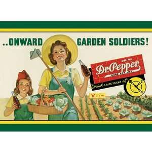Dr Pepper Soda Onward Garden Soldiers Retro Vintage Tin
