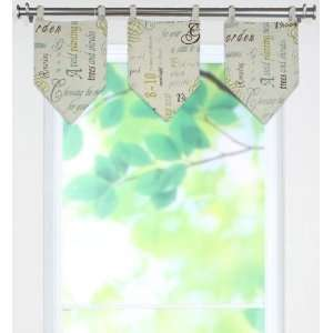 Collection Valances   tab top valance, Chtswrth Citron Home & Kitchen