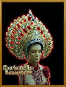 GOLD Drag Queen Pageant CABARET ORIENTAL DIVA HEADDRESS