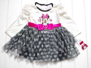 2T Disney Minnie Mouse Costume Fancy Party Dress Up Heart Tutu Outfit