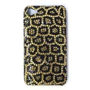 Swarovski Crystal Black & Gold Animal Print Design Pattern Bling Apple