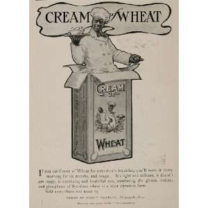 1901 ORIG Ad Cream of Wheat Rastus Chef Black Americana