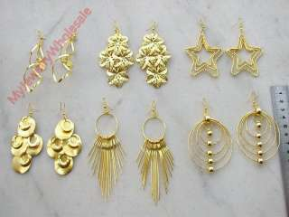 Wholesale lot of 30pairs new high quality gold earrings