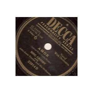 Alla En El Rancho Grande / Amor Bing Crosby Music