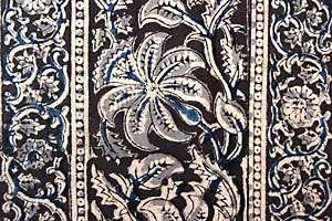 Kalamkari, Hand Printed, Cotton Fabric. Natural Dyes