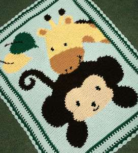 Crochet Jungle Afghan Pattern : MONKEY AFGHAN PATTERN 2000 Free Patterns