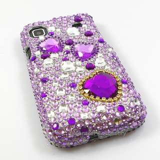Purple Heart Bling Case Samsung Galaxy S 4G T Mobile