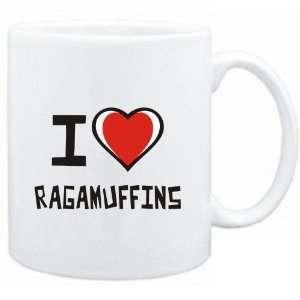 Mug White I love Ragamuffins  Cats