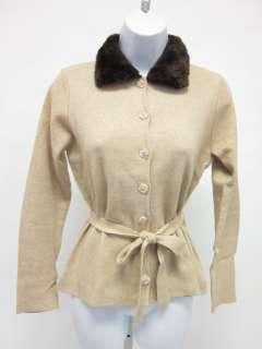 EASEL Tan Cotton Cardigan Sweater Blouse Top Sz M