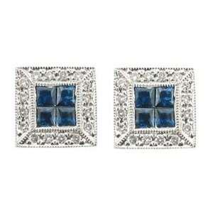 Mastini Classic Blue Sapphire Earrings Mastini Fine