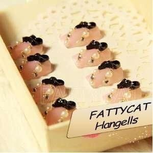 FASHION JAPANESE 3D NAIL ART SWEET PINK BOW 24 nails Sold