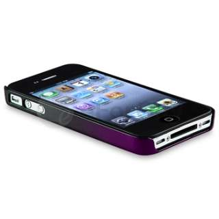 Black to Dark Purple Hard Snap on Case Cover+PRIVACY FILTER for iPhone