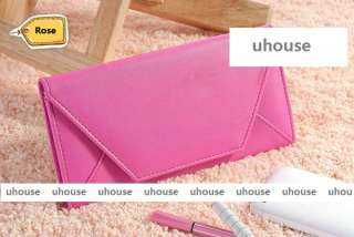 PU leather colorful checkbook purse wallet cards holder PROMOTION SALE