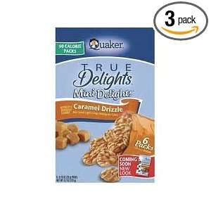 Quaker Mini Delights 90 Calorie Packs Caramel Drizzle Flavor (3 Pack