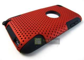 RED Mesh Hard Soft Hybrid Combo Case Cover Apple iPod Touch 4 4th