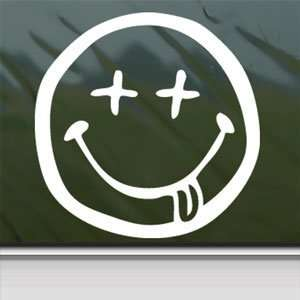 Nirvana Stoned Face White Sticker Car Vinyl Window Laptop