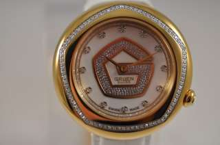 SWISS OVER 85 GENUINE DIAMONDS MOTHER PEARL DIAL LOGO WATCH