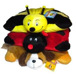 Cute Soft Bumble Bee Lady Bug Dog Snuggle Pillow Pet 18 Toys & Games