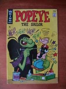 King Comics ~ Beetle Bailey #58 and Popeye #85 ~ 1967 ~ 12c