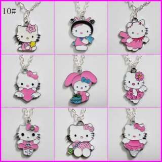 Lots 10pcs Cute Hellokitty Necklaces Girls Kid Birthday Party