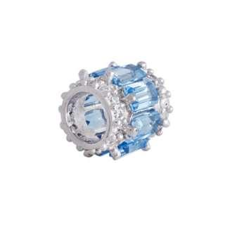 ct Swiss Blue Topaz 925 Silver Pendant 18 Necklace