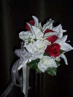 Ashley Silk Rose HT8 Bridal Bouquet Wedding Flowers 136