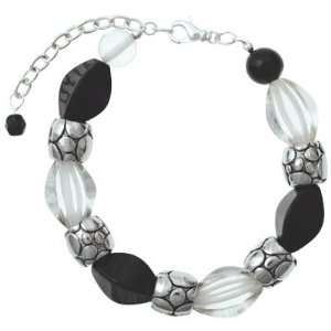 Black & Clear Bubblicious Beaded Bracelet Arts, Crafts & Sewing