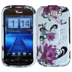 Purple Lily Hard Case Cover for HTC Mytouch Slide 4G Cell