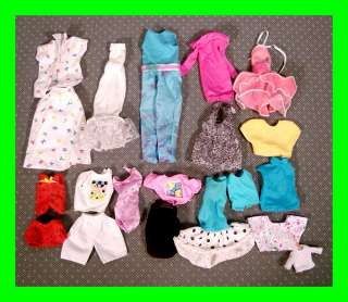 Lot) Vintage Doll Clothes Clothing w/Plastic Snaps