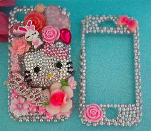 & BARBIE IPHONE 4G & 4S PINK CRYSTAL RHINESTONE BLING 3d DECO CASE
