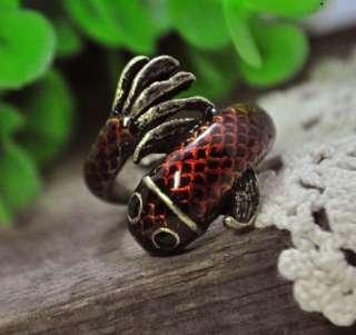 Fashion Vintage Cool Little Cyprinoid Retro Style Ring