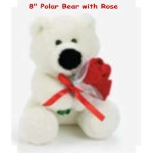Valentine Day Gifts Plush Polar Bear with Roses