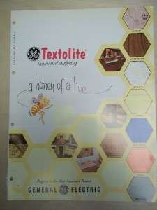 Vtg General Electric GE Brochure~Textolite Laminates~Catalog