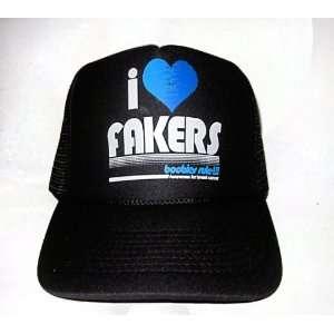 I Heart Fakers Trucker Hat  Black