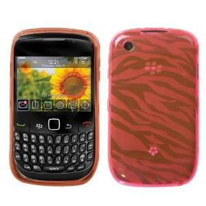 Blackberry Curve 8520 9300 Pink Zebra Skin Candy Skin Cover (free ESD