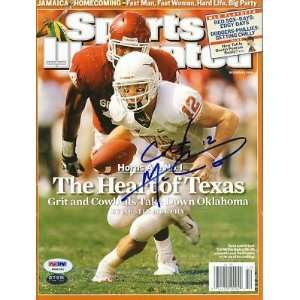 LONGHORNS SPORTS ILLUSTRATED PSA/DNA   Autographed NFL Magazines