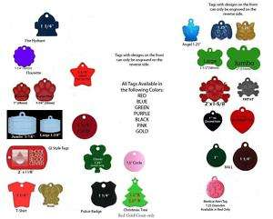 TWO SIDED Dog Tag Cat Pet ID Name Tags Collar Charm