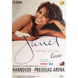 Janet Jackson Original German Concert Poster