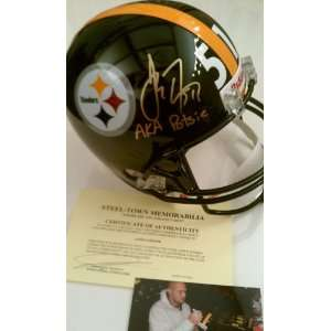 James Farrior Potsie Signed Full Size Pittsburgh Steelers Helmet