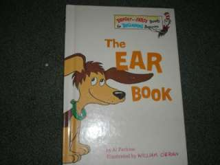 The Ear Book by Al Perkins 1968 Hc cat hat ex early