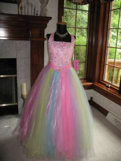 Perfect Angels 1366 Pink Rainbow Pageant Gown 6