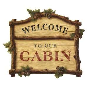 Welcome To Our Cabin Pine Cone Lodge Mural: Home & Kitchen