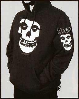 MISFITS FIEND Skull PUNK Black Sweatshirt HOODIE