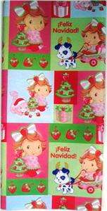 CHRISTMAS BABY STRAWBERRY SHORTCAKE GIFT WRAP paper