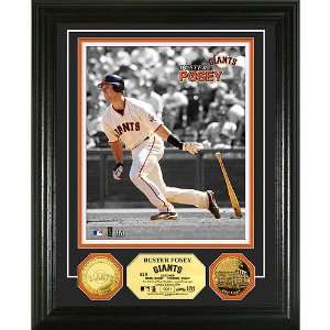 San Francisco Giants Buster Posey Two Tone 24KT Gold Coin Photo Mint
